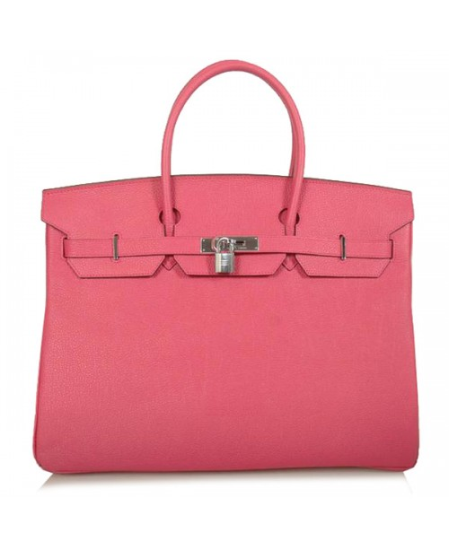 Replica Hermes 40cm Birkin Handbag Pink Togo Leather with Silver Hardware-77740