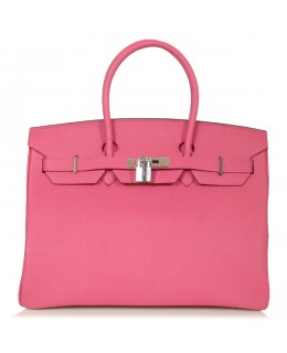 Replica Hermes 40cm Birkin Handbag Pink Togo Leather with Silver Hardware-78982