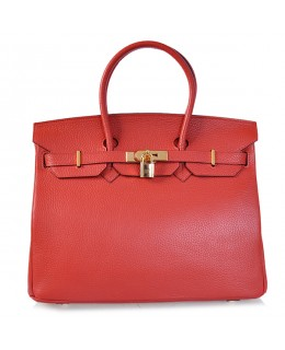 Replica Hermes 35cm Birkin Handbag Red Togo Leather with Gold Hardware-78263