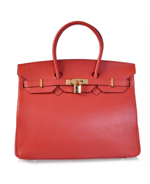 Replica Hermes 40cm Birkin Handbag Red Togo Leather with Gold Hardware-78973