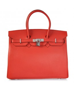3209cfc783 Replica Hermes 40cm Birkin Handbag Red Togo Leather with Silver  Hardware-78960
