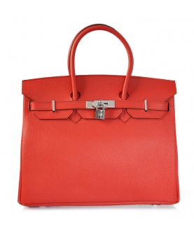 Replica Hermes 40cm Birkin Handbag Red Togo Leather with Silver Hardware-78960