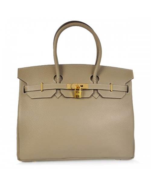 Replica Hermes 40cm Birkin Handbag Gray Togo Leather with Gold Hardware-78975