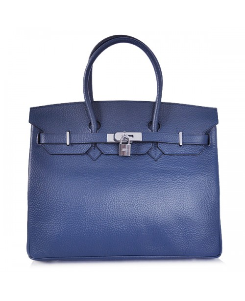 Replica Hermes 40cm Birkin Handbag Deep Blue Togo Leather with Gold Hardware-78971