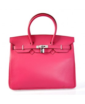Replica Hermes 35cm Birkin Handbag Candy Collection Togo Leather with Silver Hardware-78291