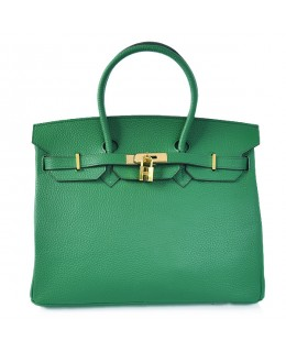Replica Hermes 35cm Birkin Handbag Dark Green Togo Leather with Gold Hardware-78230