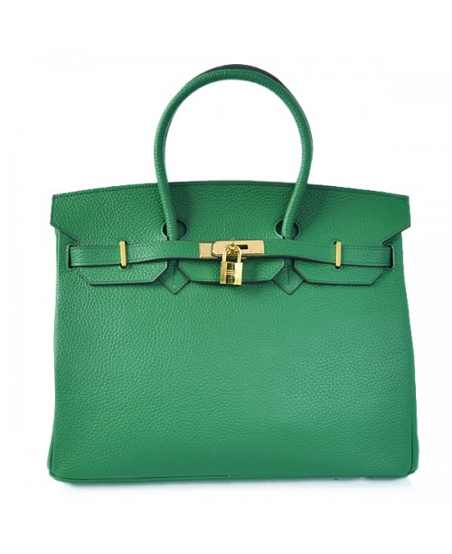 Replica Hermes 40cm Birkin Handbag Dark Green Togo Leather with Gold Hardware-78953