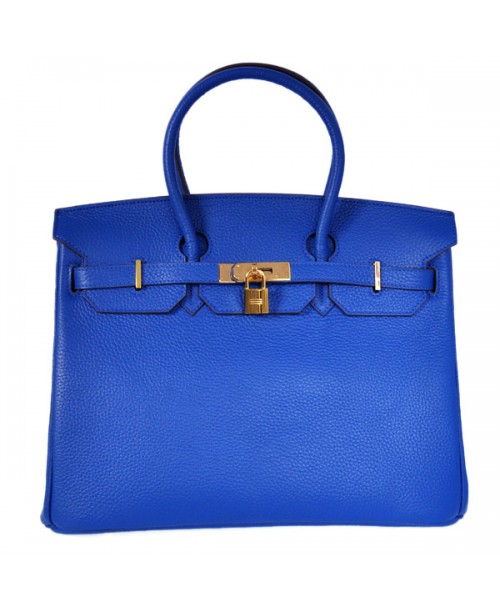 Replica Hermes 40cm Birkin Handbag Candy Collection Blue Togo Leather with Gold Hardware-79010