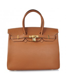 Replica Hermes 40cm Birkin Handbag Brown Togo Leather with Gold Hardware-79004