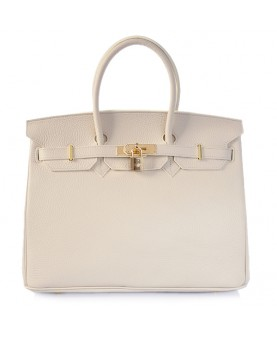 Replica Hermes 40cm Birkin Handbag Cream Togo Leather with Gold Hardware-78994