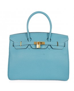 Replica Hermes 40cm Birkin Handbag Blue Jean Togo Leather with Gold Hardware-78946