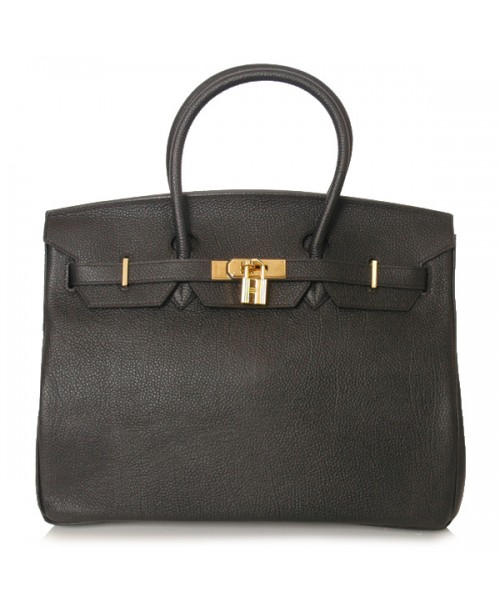 Replica Hermes 40cm Birkin Handbag Black Togo Leather with Gold Hardware-78942