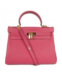 Replica Hermes Kelly Handbag 32cm Pink Togo Leather Golden Metal-79066