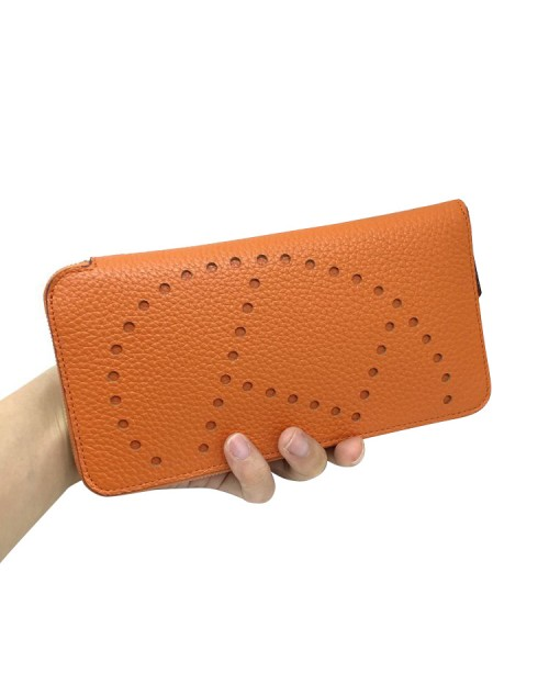 Replica Hermes Wallet Orange Togo Leather-79070