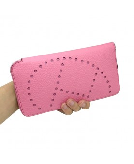 Replica Hermes Wallet Pink Togo Leather-79072