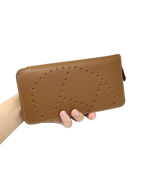 Replica Hermes Wallet Brown Togo Leather-79074