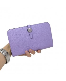 Replica Hermes Passport Wallet Light Purple Togo Leather-79075