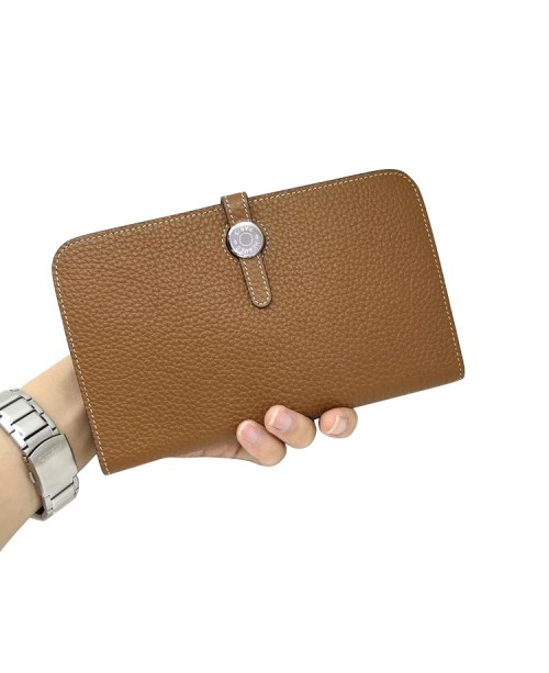 Replica Hermes Passport Wallet Brown Togo Leather-79076