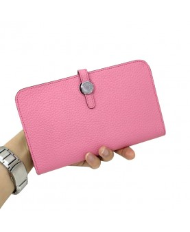 Replica Hermes Passport Wallet Pink Togo Leather-79078