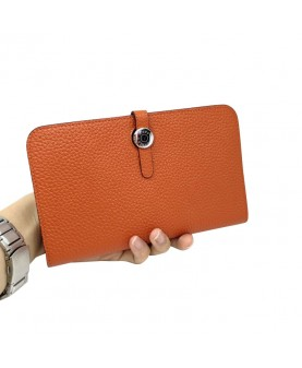 Replica Hermes Passport Wallet Orange Togo Leather-79082