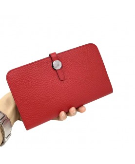Replica Hermes Passport Wallet Red Togo Leather-79083