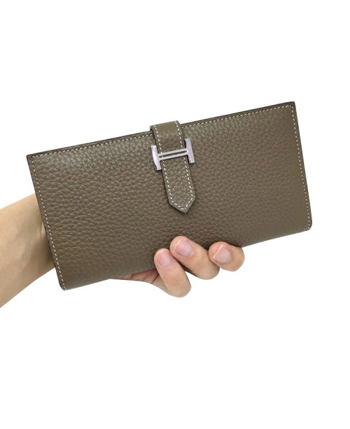 Replica Hermes Wallet Two Fold Dark Gray Togo Leather-79089
